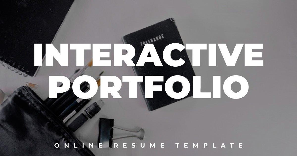 Interactive Portfolio Template with the WordPress Website Design
